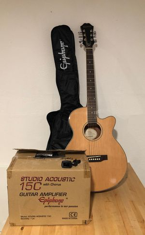 Epiphone PR-4E Acoustic-Electric Guitar Bundle for Sale in Queens, NY