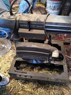 1960 vintage craftsman 10 inch radial arm saw with light