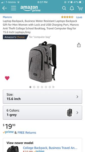 Grey Laptop Backpack for Sale in Corona, CA