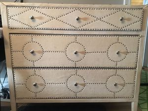 Leather Covered Nailhead accent 3 Drawer dresser for Sale in New York, NY