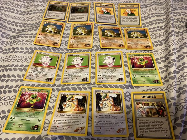 Pokemon Gym Heroes Lot--RARES LP-NM