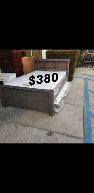 Full bed frame with mattress included for Sale in Paramount, CA