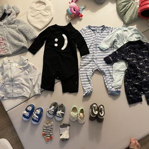 3months - 6months Baby Clothing / Baby Onesie / Baby Jacket/ Baby Shoes / Baby Socks / Bibs Toddler kid baby boy IKEA Toy container Household storag for Sale in Brea, CA