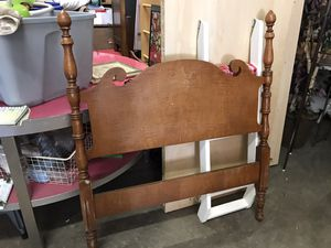 Vintage Wooden Twin Bed for Sale in Cary, NC