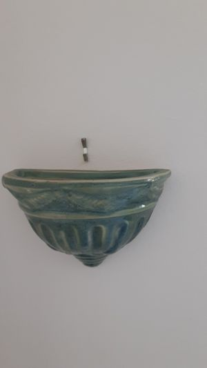 Two flat back hanging Wall Planters and beautiful terracotta color for Sale in Deltona, FL