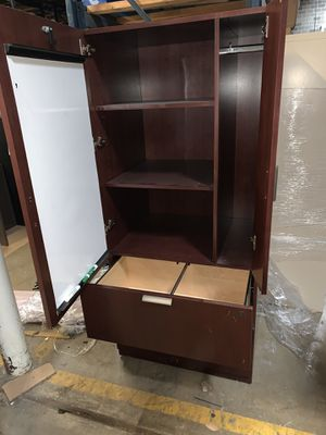 Wardrobe Storage cabinet with shelves and drawers and marker board for Sale in Dallas, TX