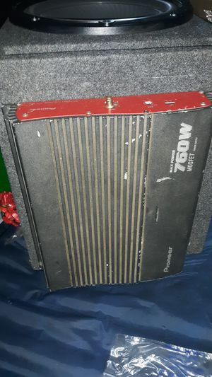 12 inch kenwood sub and pioneer amp for Sale in South Bend, WA