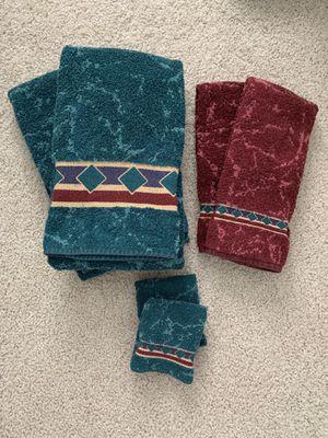 6 piece decorative bath towel set for Sale in Irvine, CA