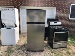 Stack set fridge gas stove microwave dishwasher for Sale in Cumberland, VA