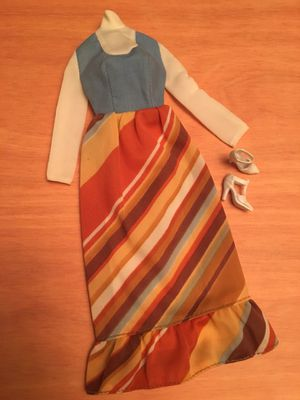 Vintage Barbie Best Buy 9622 Brown Striped dress with Blue White top for Sale in Westminster, CA