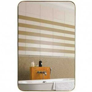 "32"" x 20"" Metal Frame Wall-Mounted Rectangle Mirror-Golden HW6384 for Sale in Palmdale, CA"