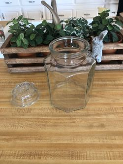 Decor - Large Octagon Jar with Glass Lid for Sale in Colleyville,  TX