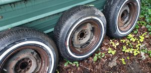 4 trailer tires with rims,205-75-15 for Sale in Palos Park, IL