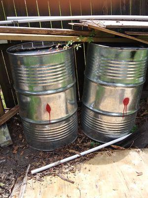 2 55 gallon food grade drums for Sale in St. Petersburg, FL