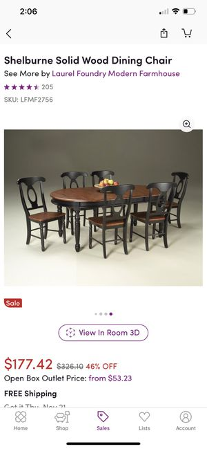 Shelburne Dining Table Set w/ wine server for Sale in Lawrenceville, GA