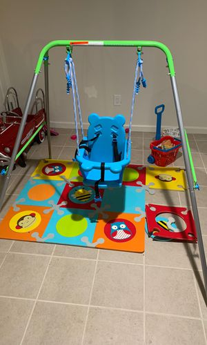 kids indoor/outdoor swing set for Sale in Dumont, NJ