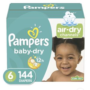 Pampers baby dry diapers size 6 144 count for Sale in Los Angeles, CA
