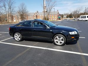 Sale or Trade in /Audi 2008 /A6 AWD quattro/3.2L /S line/V6/Sunroof/Sport gear/very clean interior and exterior/brown leather /black colour for Sale in Alexandria, VA