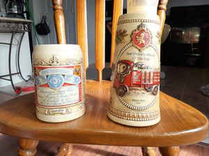 1990 antique Anheuser-Busch Budweiser label Stein and steph's heritage series v Stein for Sale in Martinsburg, WV