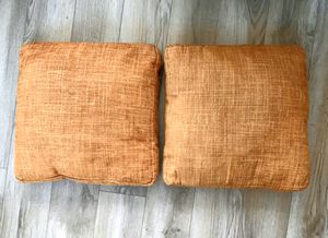 Orange Decorative Pillows 17x17 for Sale in Washington, DC