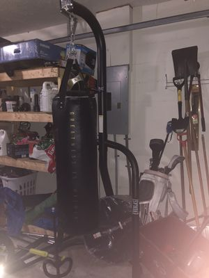 Punching bag stand and speed bag for Sale in Riverview, FL