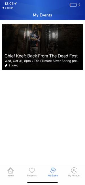 Chief Keef Concert Ticket. ( OCT. 30 ) The Filmore - Silver Spring for Sale in Hagerstown, MD