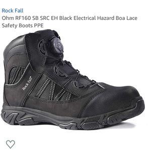 Rock Fall Black work boots w/ Boa lace size 12 for Sale in Miami, FL