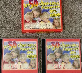 LES50 Chansons Favorites Des Enfants CD Songs Volume 1 & 2 for Sale in Chapel Hill,  NC