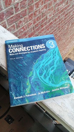 Cambridge Making connections advanced level reading book (3) for Sale in Bedford, TX