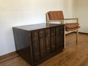 1970s Vintage wood end table with storage for Sale in San Francisco, CA