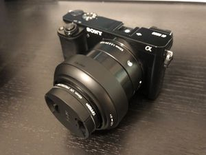 Sony a6000 + kit lens + fixed lens + accessories for Sale in St. Louis, MO