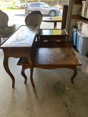 Coffee table, end table and library table for Sale in Fresno, CA