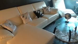 white leather sectional couches for Sale in New York, NY