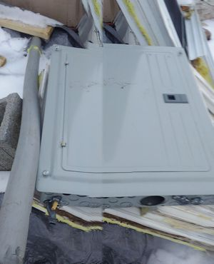 200 amp service box and breakers and 5 ft pipe for Sale in Williamsport, PA