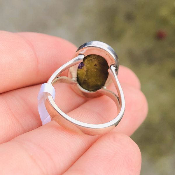 Natural Stichtite 925 Ring Size 7