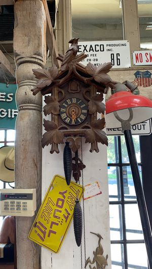 Antique Coo Coo Clock Beautiful Carved Wood for Sale in Whittier, CA