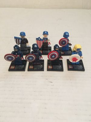 Captain America building blocks Compatible with Legos Avengers spider man Ironman wonder women Thor thanos for Sale in La Habra, CA