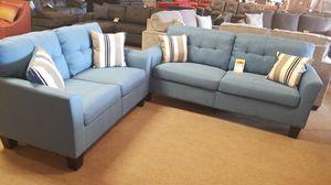 Light Blue Sofa and Loveseat for Sale in Phoenix, AZ