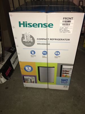 Hisense 4.4 Cu Ft Single Door Mini Fridge RR44D6ASE, Silver for Sale in Los Angeles, CA