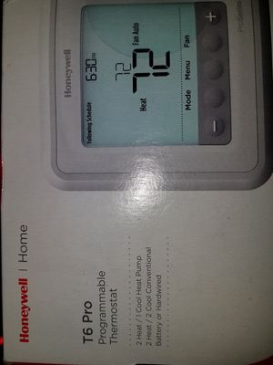 Honeywell T6 Pro programmable thermostat for Sale in Seattle, WA