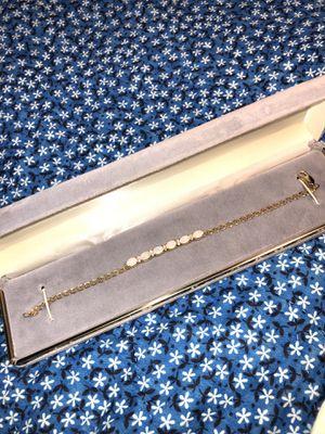 Beautiful opal bracelet gold!14K &diamonds for Sale in San Fernando, CA