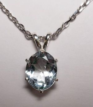Natural Oval Topaz Necklace, 3.14cts for Sale in Justin, TX