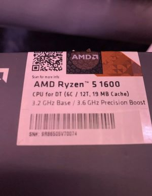 AMD YD1600BBAEBOX Ryzen 5 1600 32GHz 6 Core AM4 Processor with Wraith Spire... for Sale in Arvada, CO