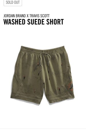 Jordan Travis Scott Suede Shorts SZ L for Sale in Irvine, CA