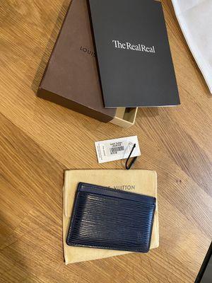 Louis Vuitton Epi Midnight Card Holder Wallet for Sale in Houston, TX
