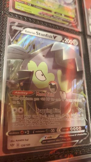 Galarian stunfisk v darkness ablaze for Sale in Scappoose, OR