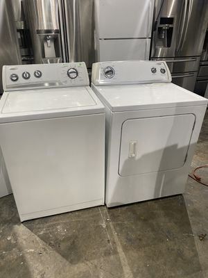 Whirlpool washer and dryer electric works perfect clean one receipt for 30 days warranty for Sale in Peabody, MA