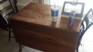 Antique solid wood mahogany table and chairs for Sale in Phoenix, AZ