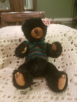 Ty Collectible Beanie Babies Boris Black Bear 1993 w/Sweater Style 6041 for Sale in Lexington, SC