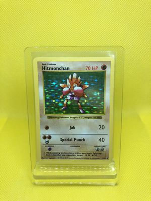 Pokemon Cards - Base Set Shadowless - Hitmonchan for Sale in Winter Garden, FL